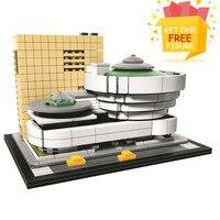 Bela Pogo Compatible Legoe 10679 744PCS Landmark Building Solomon R Guggenheim Museum Buidling Blocks Bricks Toys