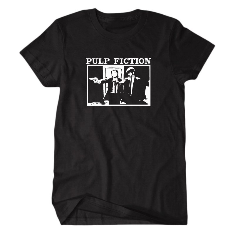 New Pulp Fiction Short Sleeve T Shirt 100 Cotton Classic Movie Shorts font b Accesories b