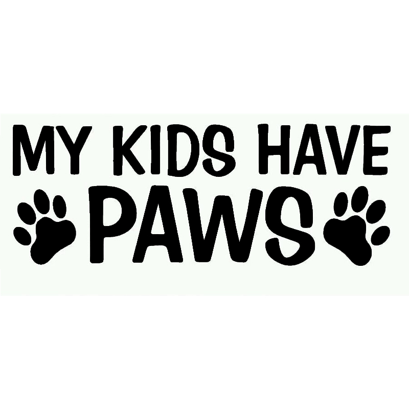 187cm cute my kids have paws funny truck bumper motorcycle vinyl decal sticker family dog puppy pet in car stickers from automobiles motorcycles on