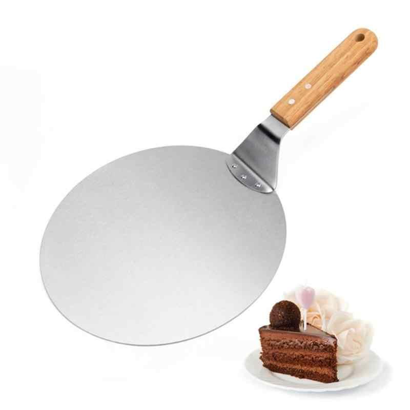 Пицца камень выпечки Кондитерские инструменты 1 шт. нержавеющая сталь анти-скальдинг Pizzas лопатка из дуба ручка лопатка для торта кухонные аксессуары