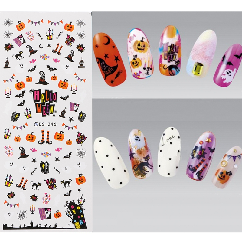 Nail Art Water Decals Transfer Stickers Colorful Design Nail DIY Decoration Tips nail art water transfer stickers christmas style mix santa claus bell gift angel etc12 design decals christmas decoration set