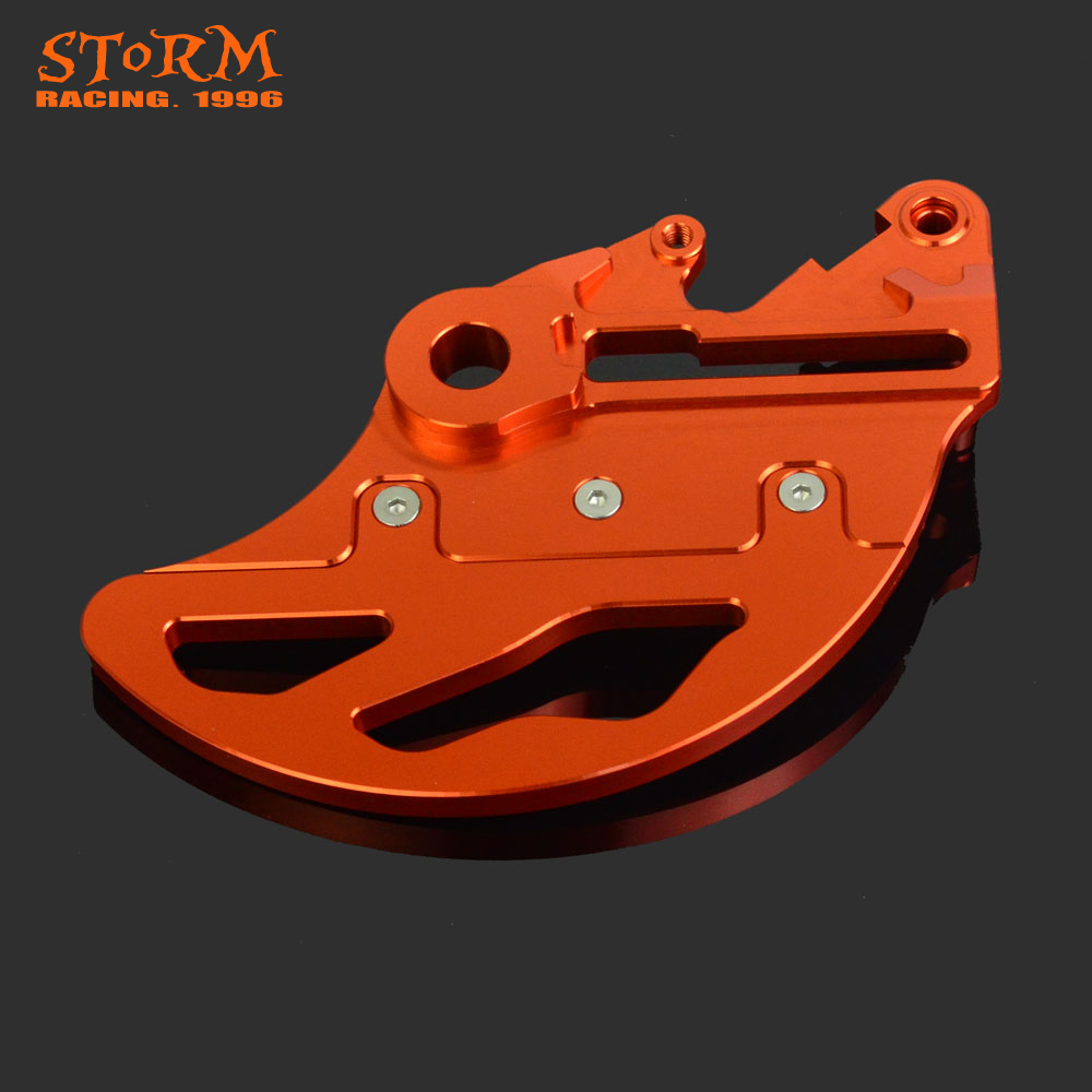 CNC Aluminum Motorcycle Rear Brake Disc Guard Protector For KTM 125-530 125 250 300 350 400 450 All Models 04-12 XCW EXC 04-15 cnc motorcycle billet rear brake disc guard for ktm 125 530 exc exc f xc w xcf w 04 15 for husaberg te 125 250 300 2011 2014 d25