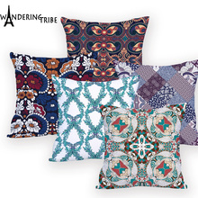 Geometirc Cushion cover Colorful Outdoor Cushions High Quality Custom Polyester Throw Pillows  Ethnic Home Decor