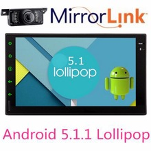 Android 5.1 Lollipop Double 2 Din Car Stereo Audio Radio GPS Navigation tape recorder autoradio cassette Headunit NO DVD Player