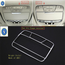 Yimaautotrims Accessories Auto Accessory Roof Reading Lamp Lights Cover Kit For Mercedes Benz C CLASS W205 GLC X253 2015 - 2019 yimaautotrims auto accessory front fog lights lamp eyelid eyebrow cover trim for mercedes benz c class w205 sedan 2015 2018