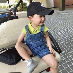 Image 2 - סרבל ג ינס ילדים עבור תינוק נערי קיץ מכנסיים ג ינס בנות כיס סרבל ילדים בני מכנסיים ילדים של ג ינס