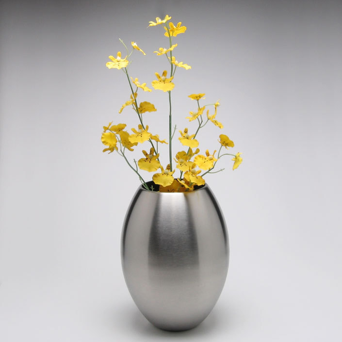 Modern Simple Stainless Steel Egg Shape Flower Vase Decorative
