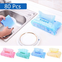 FEIGO 80Pcs/bag Kitchen Non-Woven Environmentally Friendly Disposable Rag Water Absorption Non-Stick Oil Cleaning Cloth F809