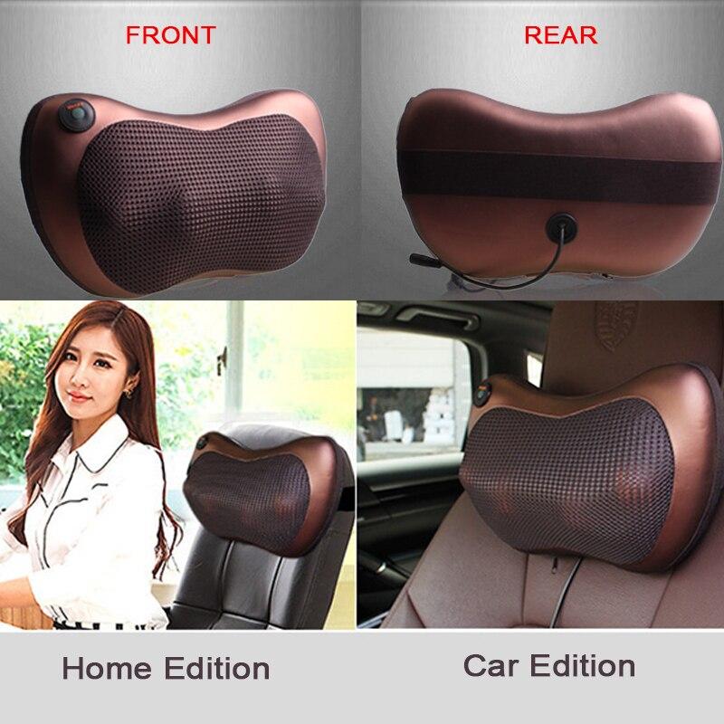 Atreus Car Styling 1ks Chraňte krk 4/8 míčků Masážní polštáře pro Mercedes W211 W203 W204 W210 W205 W212 W220 AMG Mazda 3 6 2 CX