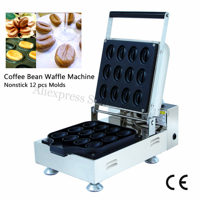 Commercial Caffe Bean Waffle Maker Nonstick Coffee Bean Shaped Waffle Machine 110V/220V Timer and Thermostat polyphenols in green coffee bean and chocolate