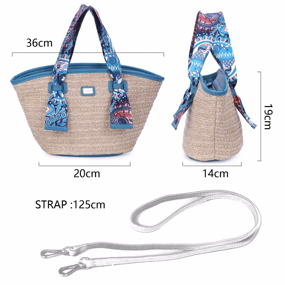 DAVIDJONES Women Casual Handbags Nylon Shopping Bag Scarves Wallet Bag  Medium Femme Travel Sac a main Dames tassenBolsos-in Top-Handle Bags from  Luggage ... 4f27b1fed6935