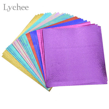 Lychee Life 40pcs Laser Shinning Origami Paper DIY Kids Folded Paper Craft Scrapbooking Decoration Card Making Art Paper 1