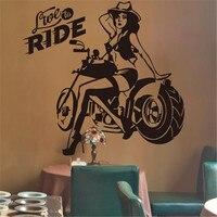 Пикантные Девушки мечты стены Стикеры Винил DIY мотоциклетные росписи Книги по искусству для Гостиная Магазин Бар украшения
