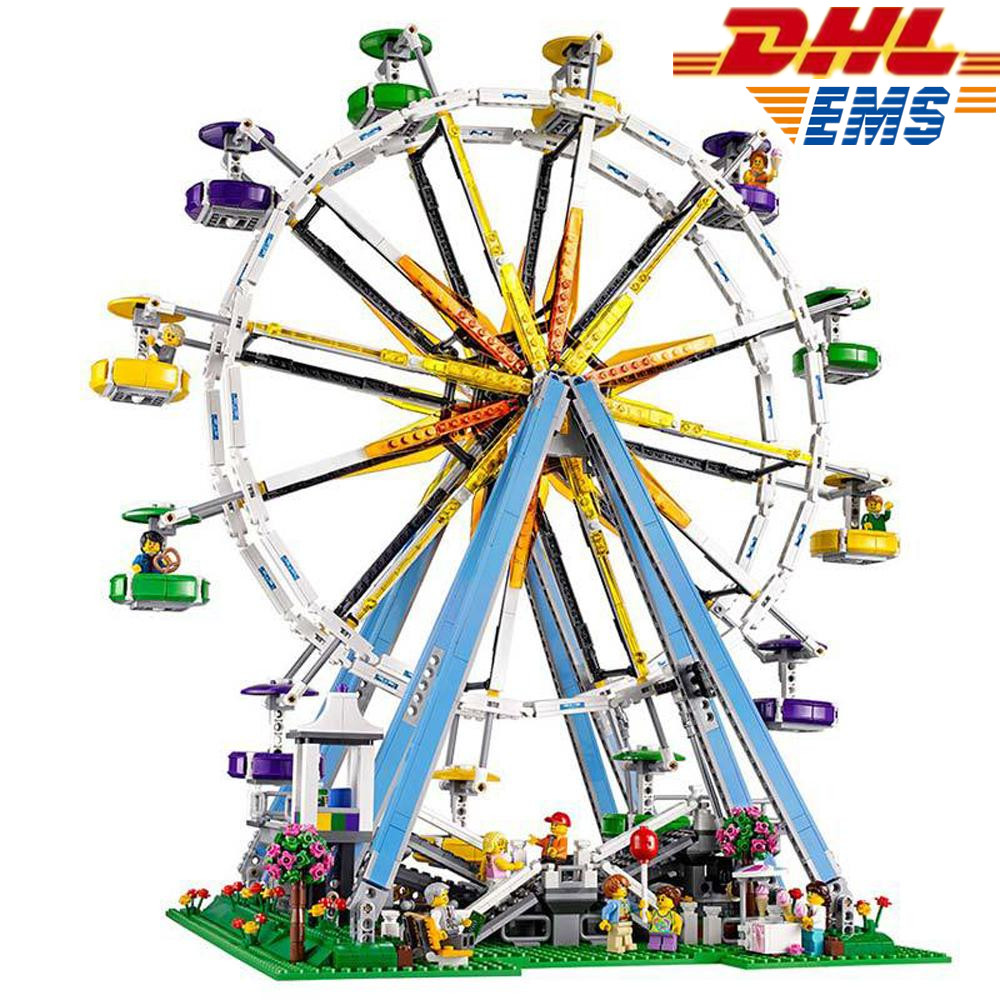 MTELE 2518 Pcs City Street Creator Ferris Wheel Model Building Kits Blocks Kids Toys Compatible With Lego 10247 Lepin 15012 стоимость