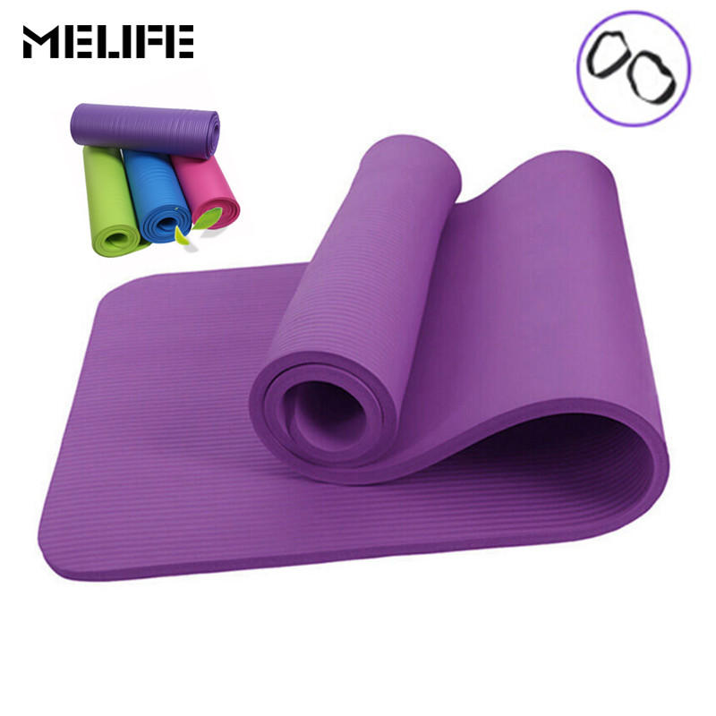 MELIFE Fitness Non-Slip Yoga Mat Sport Pad Gym 10mm Thickess Soft Pilates Mats Foldable Pads for Body Building Training Exercise 180x60x5cm folding panel gymnastics mat gym exercise yoga mats pad yoga blankets for outdoor training body building
