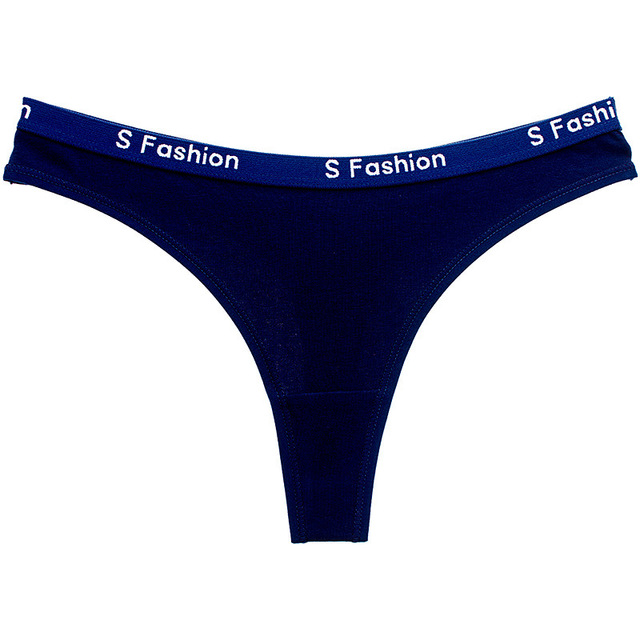 Women's Script Logo Waist Thong Panties 3 Pcs Set