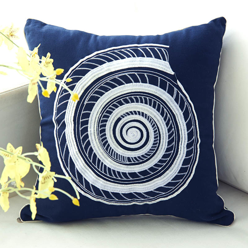 Aliexpress.com : Buy Exquisite Embroidery Mediterranean Style Sea Shell  Decorative Square Sofa Car Cushion Cover Throw Pillow Case Home Supplies  From ...