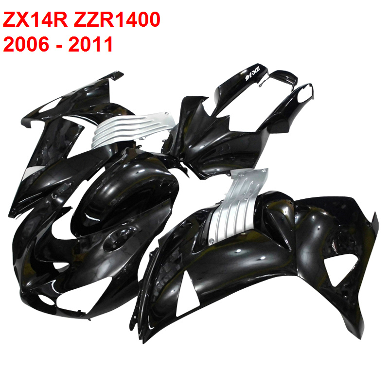Injection molding For Kawasaki Ninja ZX14R ZZR1400 2006 2011 06 11 silver fairing kit Fairings xl04