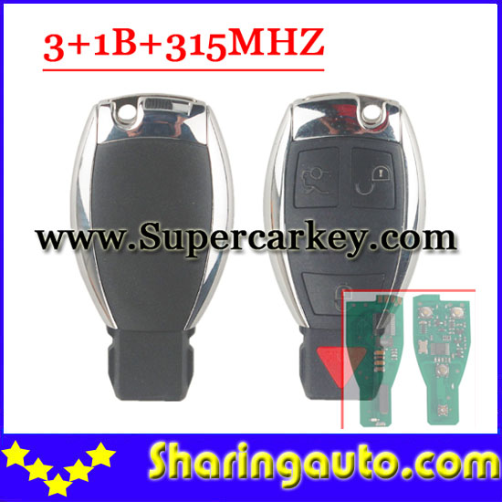 ФОТО Free shipping 4 button remote key with 315MHZ NEC Chip For Benz(Can Write unlimited) (1piece)