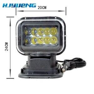 Image 3 - 1pc 50W bezprzewodowe oświetlenie marynistyczne Led latarka 12V 24V LED wyszukiwanie światła pilot światło punktowe światło diodowe do samochodu 12V