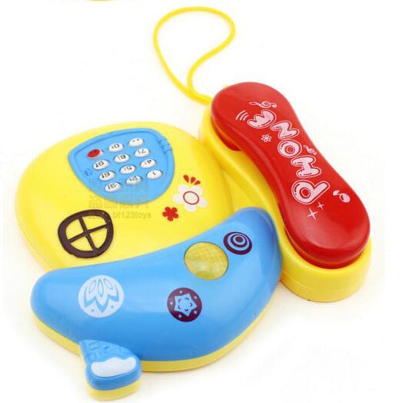 Baby Kids Cartoon Light Mushroom Telephone Children Electric Toy