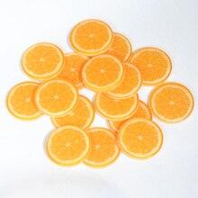27 мм Flatback глиттер апельсиновый ломтик, фруктовый плоский ломтик, кабошоны из смолы, полимерные миниатюры, товары для дома