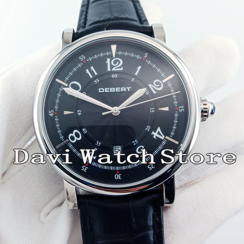 2019 New Fashion 43mm Debert Stainless Steel Case 5 Types Automatic Mens Wrist Watch