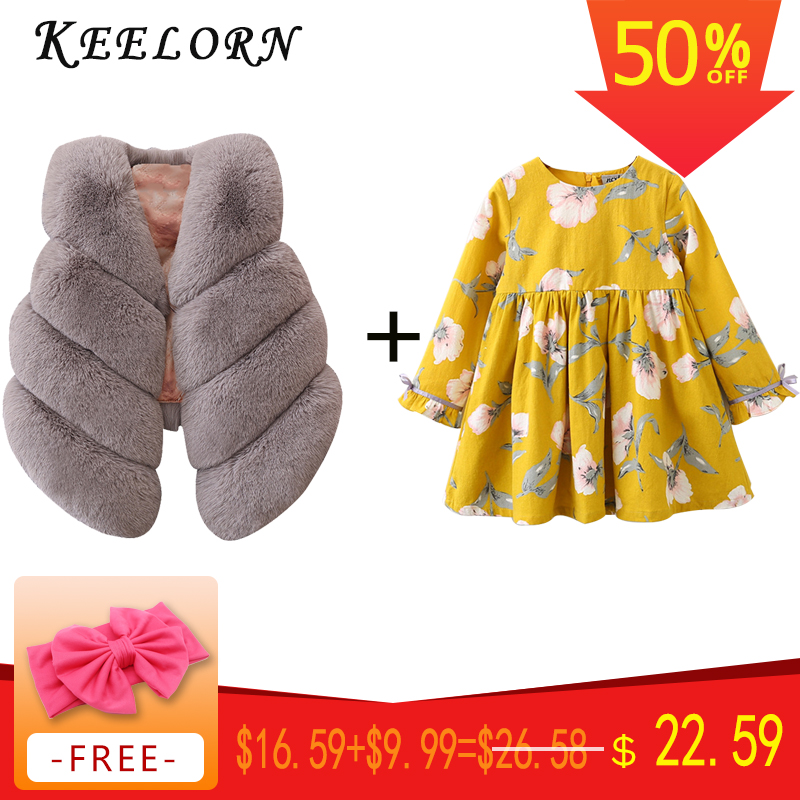 Keelorn Kids Clothing Sets 2019 Brand Summer Style Girls Clothing Sets Sleeveless White T-shirt+Pleated skirt Kids Clothes