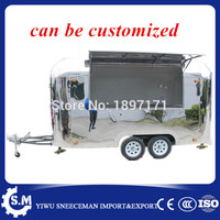 Attractive Multifunctional Sparkling food trailer and new bling food truck mobile kitchen