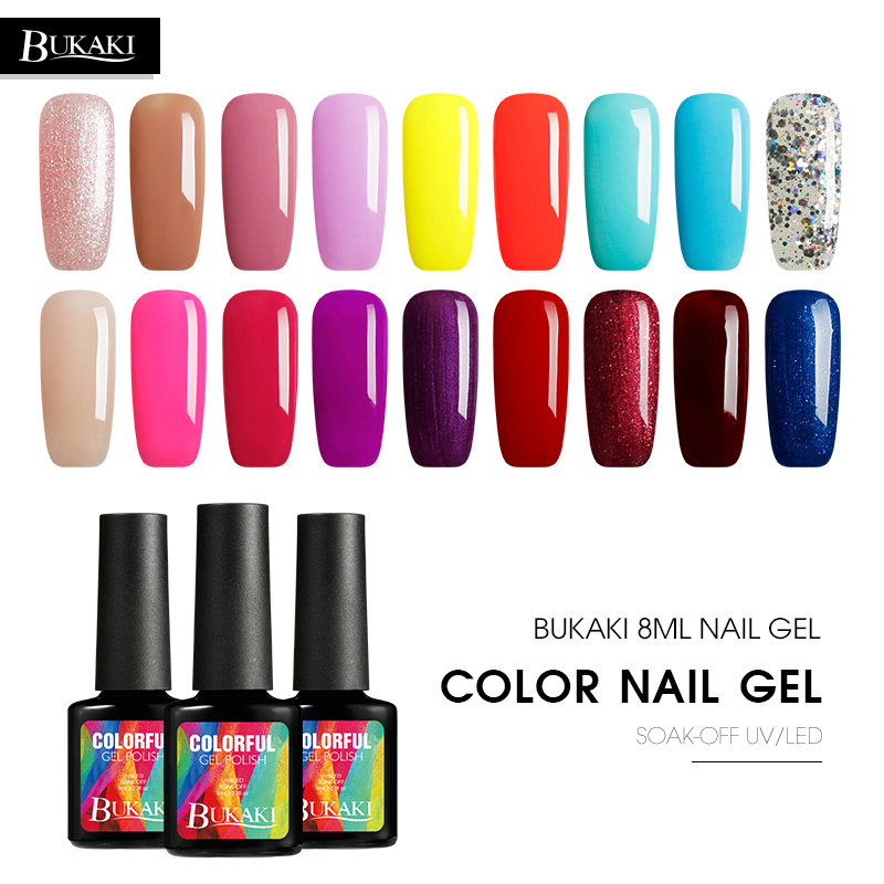 Gel Nail Polish Sale: BUKAKI Gel Nail Polish Sale Pure Colors UV Painting Gel