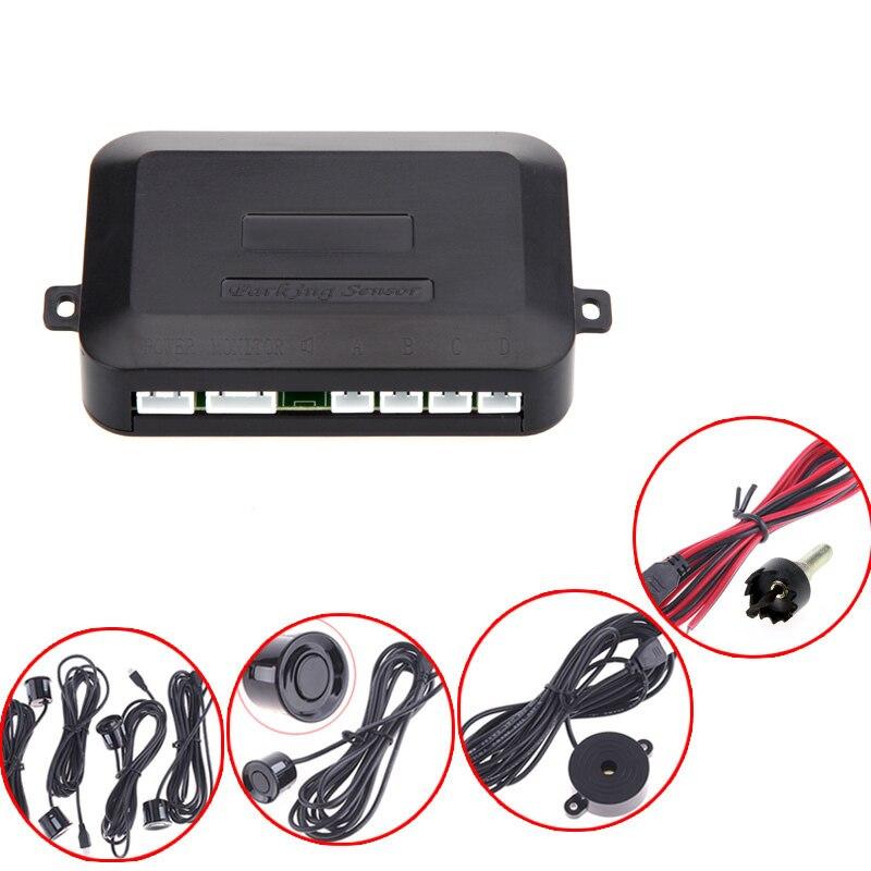 Заводская цена 12 В системы парковки обратного резервного копирования Радар звуковой сигнал + 4 Датчики серебристого или черного цвета Беспл...