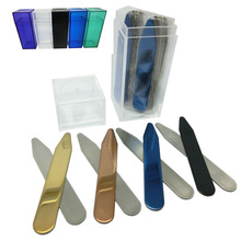 SHANH ZUN 20 pcs Stainless Steel Collar Stays Gift For Him 2.2  2.5 Custom 4 Colors Mixed Different Color Bottles