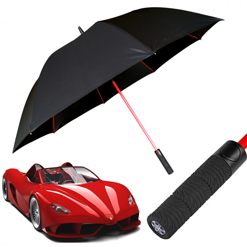 Golf Car Brand Big Large 120CM Tyre Long Straight Handle Rainy Sunny Umbrella Men Windproof High Quality Golf Beach Gifts