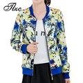 Tlzc venta caliente de señora fashion flower abrigos más el tamaño m-4xl nuevo diseñador holiday clothing mujeres chaquetas delgadas ocasionales