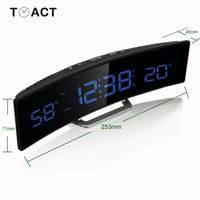 LED Alarm Clock With Temperature And Humidity Snooze Alarm Clocks Large LED Display Desk Table Watch Gift For Elder Home Decor