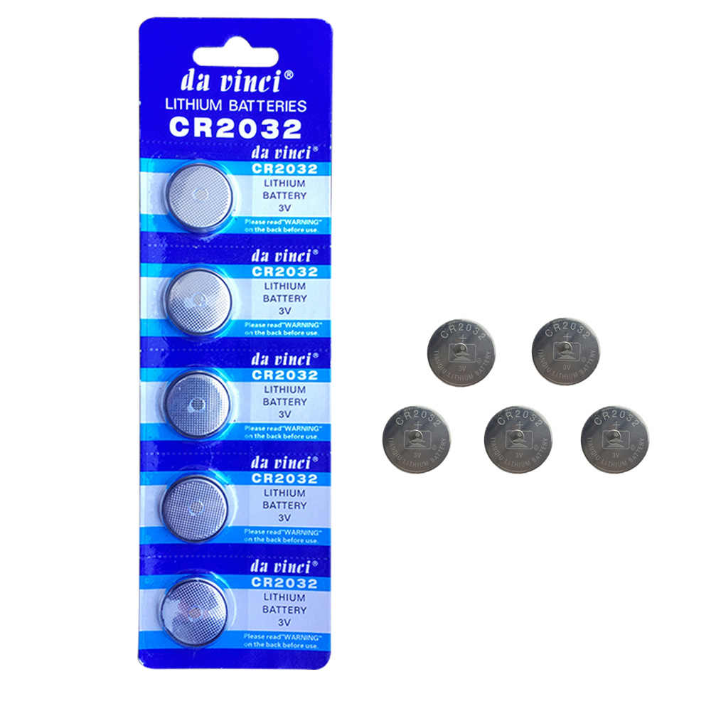 5 Pcs Button battery 3V Lithium Coin Cells Button Battery 5004LC ECR2032 CR2032 DL2032 KCR2032 EE6227
