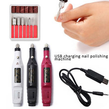 Electric Nail Drill Machine Pen Apparatus For Manicure Milling Cutters Sander Pedicure with usb line