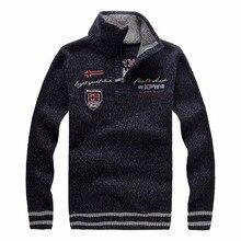 Christmas Sweater Men Winter 2017 Full Length Turtleneck Pullovers