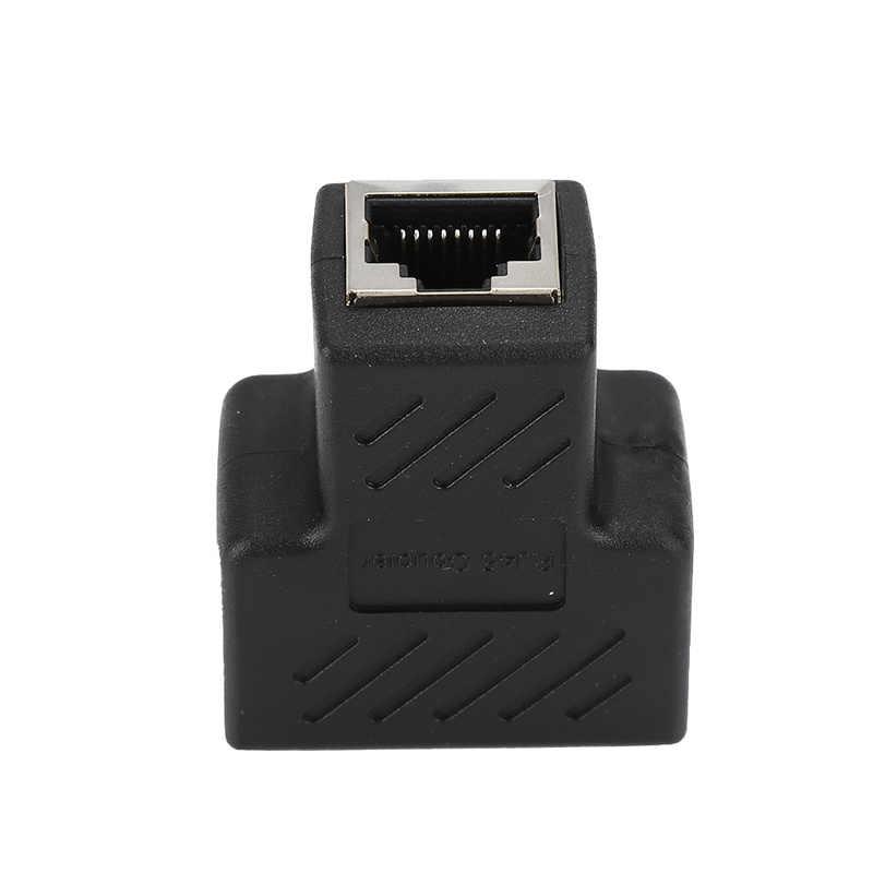 Cabo conector fêmea rj45, adaptador de conector para laptop e estações de carga sata para usb, 1 a 2 maneiras