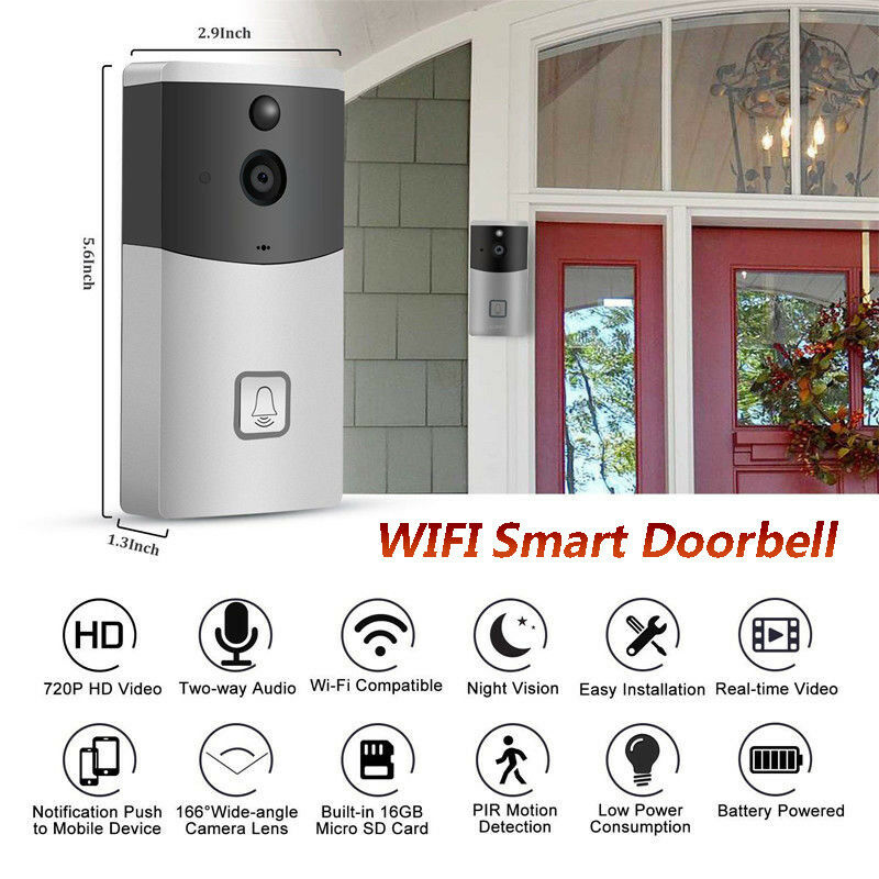 WiFi Ring Doorbell Smart Wireless Bell Camera Video Phone Intercom Home Security Call Intercom for Apartment door bell Ring