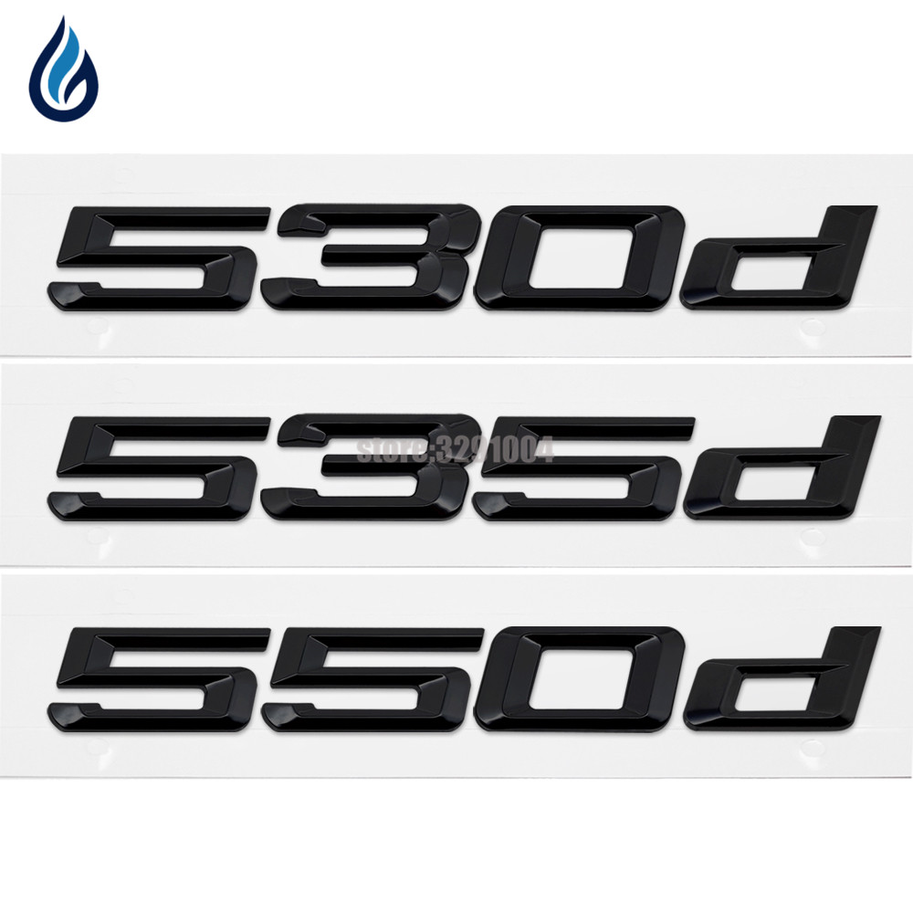 Gloss Black 545i Rear Trunk Letters Badge Emblem For BMW 5-Series E60 F10