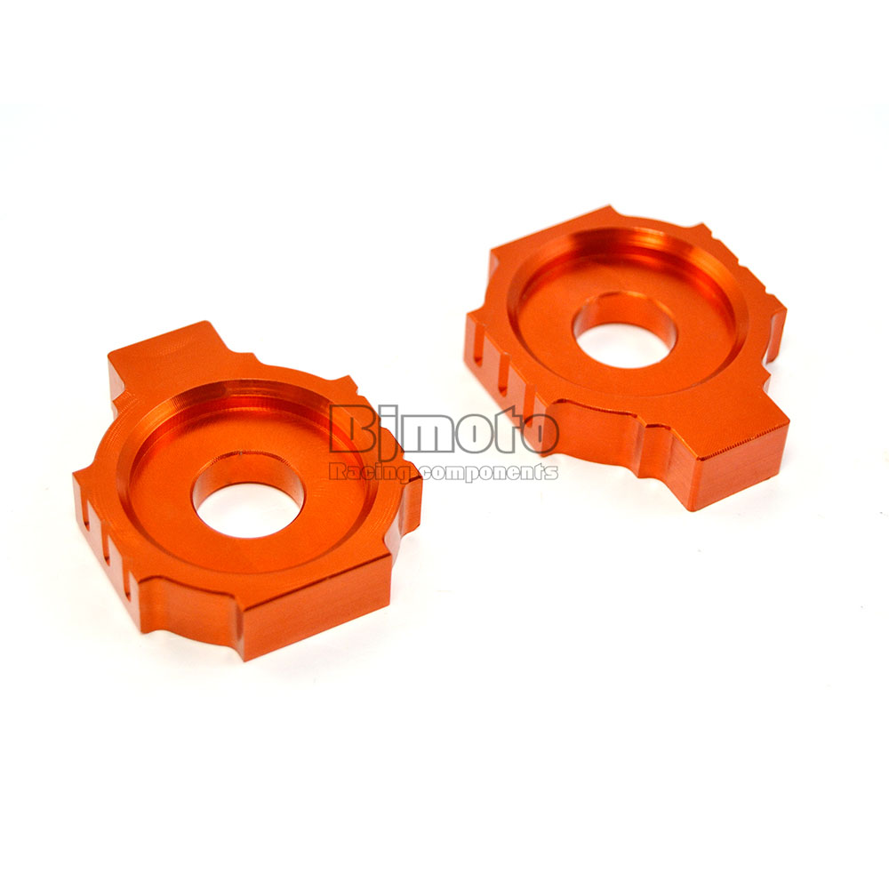 CA-KT001-OR Motorcycle CNC Rear Axle Spindle Chain Adjuster Blocks for KTM DUKE 125/200/390