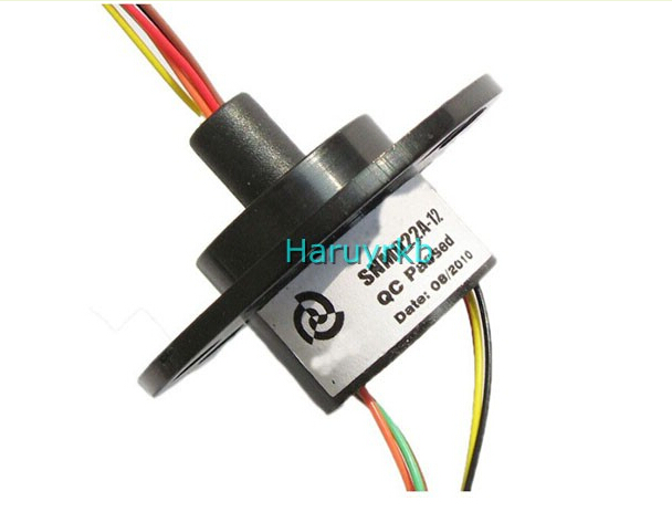 22mm 6 2A 6 Conductors Capsule Compact Slip Ring 220V AC 250Rpm FOR Cctv Robotics AC