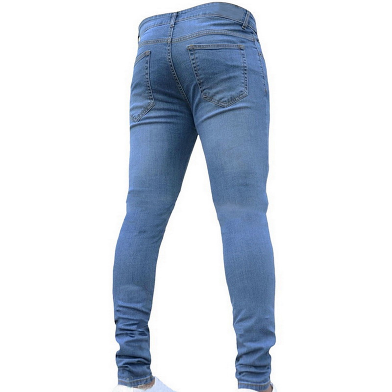 SHUJIN Men Brand Skinny Jeans Casual Hip Hop Trousers 2018 Dnim Back Jeans Stretch Pants Plus Size Streetwear Pencil Pants