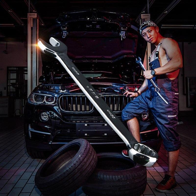 DUAN FA 8mm-14mm ratchet wrench set combination ratchet wrench tool set key ring gear wrench set flexible ratchet