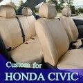 Asiento a medida fundas para cojines de asiento cubierta de asiento de coche de seda del hielo honda civic car styling accesorios interiores juegos con reposacabezas