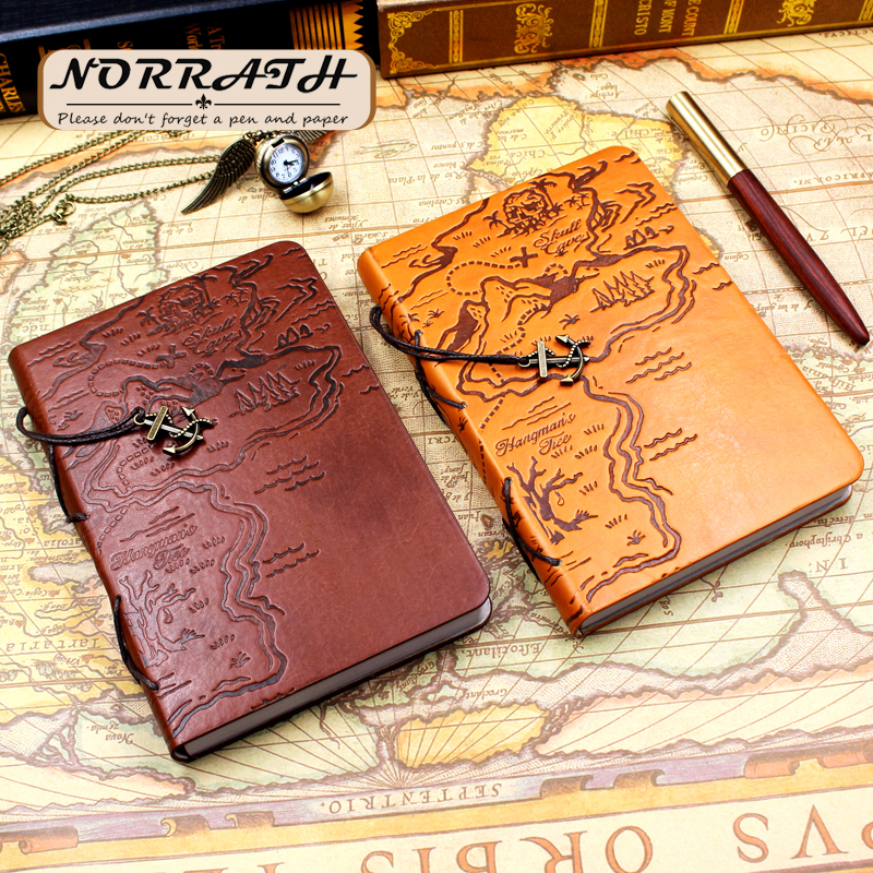 NORRATH Pirate Treasure Map Planner Notebook Diary Agenda Journal Note Book School Office Supplies Gift Stationery 2017 13 18 cm blank plain notepad notebook diary fleshiness plant printing note book agenda journal planner stationery