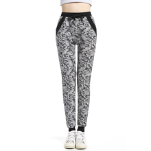купить 2019 Women's Pants Fashion Print Drawstring Casual Pencil  Pants Female Summer Trousers Long  Loose Floral Sweatpants по цене 648.06 рублей