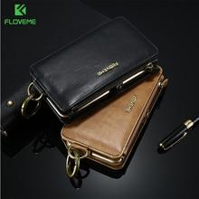 FLOVEME Retro Leather Wallet Case For Samsung