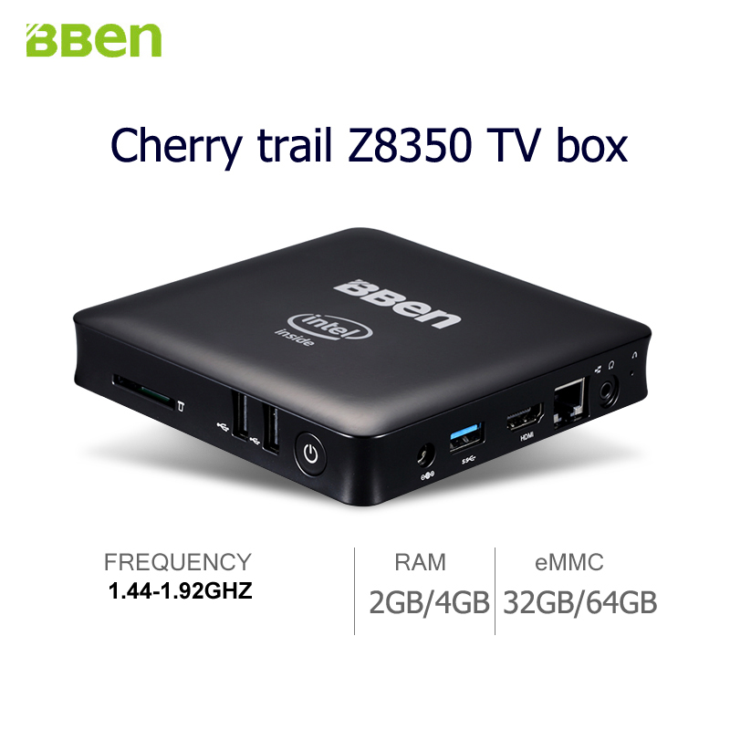 Bben desktop MINI PC Quad Core TV Box intel Z8350 Windows 10
